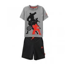 adidas阿迪达斯男小童4-10岁迪斯尼系列短袖套服AK2530