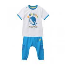 adidas阿迪达斯男婴童0-4岁纯色LGOG短袖套服运动服AP6382