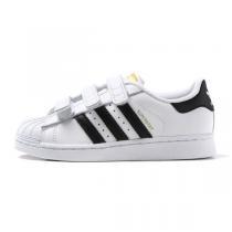 adidas三叶草男小童4-10岁贝壳头SUPERSTAR魔术贴休闲运动鞋B26070