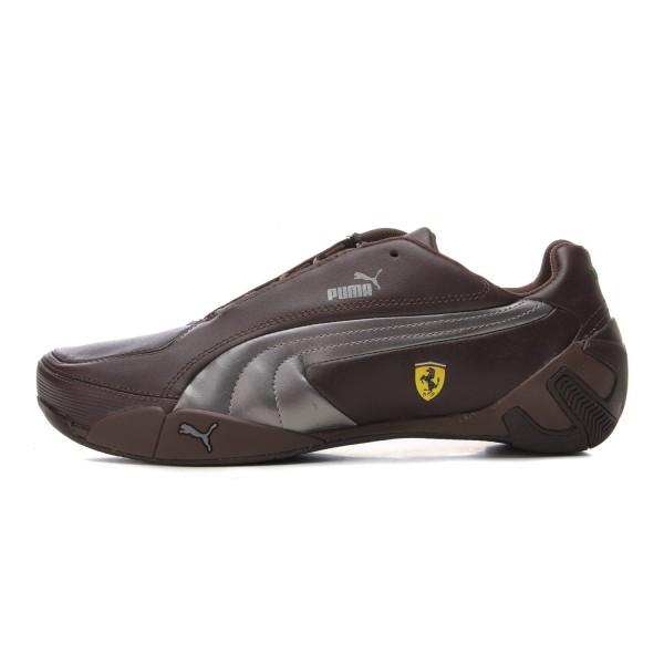 品牌:彪马  配色: 巧克力棕 银色   款式: 赛车鞋   帮面材质: 头层