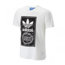 阿迪达斯三叶草新款运动休闲男短袖T恤AJ7149