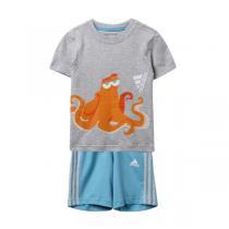 adidas阿迪达斯秋冬款童服装男婴童0-4岁休闲套装AY6034