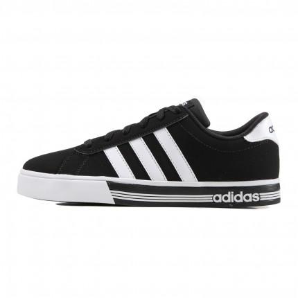 阿迪达斯adidas男一号黑 白 黑休闲鞋图片