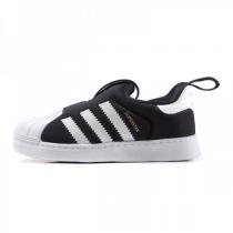adidas三叶草阿迪达斯秋冬款童贝壳头SUPERSTAR男婴童0-4岁低帮套脚休闲鞋S82711