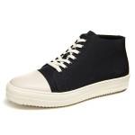 朗蒂维秋季新款男士高帮鞋潮流韩版布鞋学生透气休闲厚底板鞋 XP