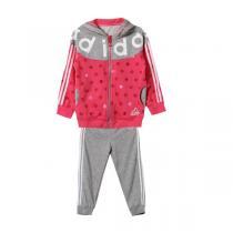 adidas阿迪达斯秋冬款童服装婴童套装女婴童0-4岁针织套装AY4625