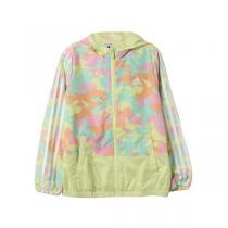 adidas阿迪达斯秋冬款童服装小童夹克女小童4-10岁梭织外套AY4663 QIU
