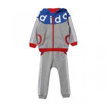 adidas阿迪达斯秋冬款童服装婴童套装男婴童0-4岁针织套装AY4622