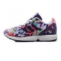 阿迪达斯三叶草童装女小童4-10岁新款ZX FLUX休闲儿童鞋S76302