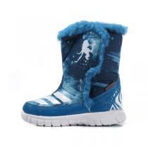 阿迪达斯adidas童鞋女婴童0-4岁秋冬款高帮冰雪奇缘儿童雪地靴AQ3656