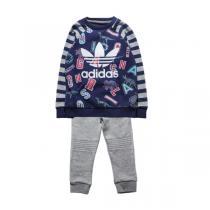 阿迪达斯adidas童装男婴童0-4岁秋冬款休闲生活针织套装童装S95937