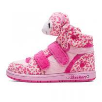 斯凯奇Skechers童鞋中性低筒平跟魔术贴大童动物系列短靴 80689LC