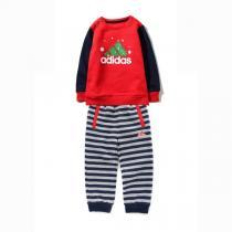 阿迪达斯adidas童装男婴童0-4岁针织套装运动服AZ8571