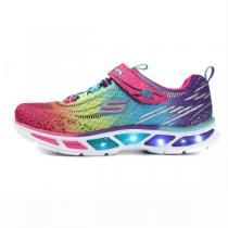 斯凯奇童鞋17年新款女小大童4-13岁超轻撞色休闲运动鞋10667L