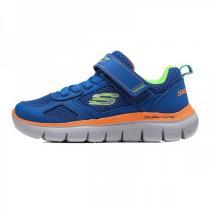 斯凯奇童 童鞋 男小童4-10岁魔术贴跑步鞋97451L/BLOR
