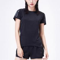 adidas阿迪达斯女子短袖T恤跑步训练休闲运动服CF2148