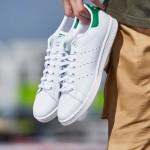 adidas阿迪達斯三葉草男子女子板鞋STAN SMITH綠尾休閑鞋M20324