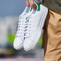 adidas阿迪达斯三叶草男子女子板鞋STAN SMITH绿尾休闲鞋M20324