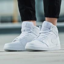Nike耐克AJ1男鞋籃球鞋AIR JORDAN 1 MID休閑運動鞋554724