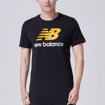New Balance/NB男装透气圆领运动休闲短袖T恤AMT73587