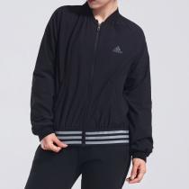 adidas阿迪达斯女子外套夹克飞行领休闲运动服DM5312