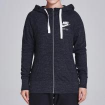NIKE耐克女裝外套秋季新款針織連帽透氣舒適休閑夾克883730