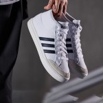 adidas阿迪達斯男子板鞋小白鞋高幫透氣休閑運動鞋BB7667