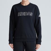 adidas阿迪達斯女子衛衣運動型格套頭衫休閑運動服DV3318