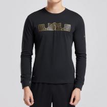 NIKE耐克男装长袖T恤詹姆斯印花修身套头衫运动服924224