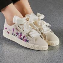 PUMA板鞋女鞋休闲鞋小花朵刺绣蝴蝶结松糕鞋运动鞋367811