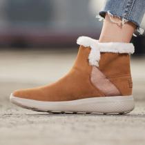 斯凱奇女鞋短靴秋冬新款輕質毛里保暖時尚雪地靴運動鞋14635