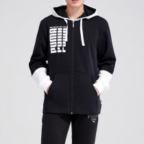 彪马PUMA男装冬季新款拼接连帽拉链针织外套休闲运动服853912
