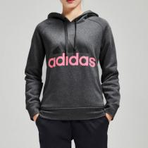 adidas女子卫衣连帽套头衫加绒休闲运动服DI0125