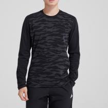 adidas男装长袖T恤圆领跑步休闲运动服DH3976