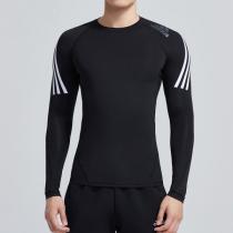 adidas男服長袖T恤健身跑步訓練運動服DW8481