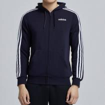 adidas男服夾克外套連帽針織運動休閑運動服DU0471