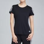 adidas女服短袖T恤圓領修身跑步運動服DQ2618