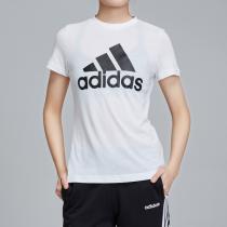 adidas女服短袖T恤圓領透氣休閑運動服DZ0013
