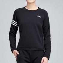 adidas女服卫衣圆领针织运动休闲运动服DT7256