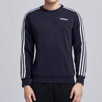 adidas男服卫衣圆领套头衫针织运动休闲运动服DU0484
