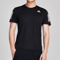 adidas男服短袖T恤2020新款跑步训练健身运动服DX1312