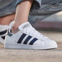 adidas阿迪达斯三叶草男鞋2019新款小白鞋贝壳头休闲运动鞋板鞋BD8069