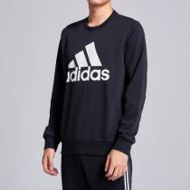 adidas男服衛衣圓領套頭休閑運動服DT9941