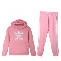 Adidas阿迪达斯三叶草女童装2019春季新款运动休闲服套装4-10岁小童DV2848