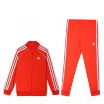 Adidas阿迪达斯三叶草男童装2019春季新款运动休闲服套装4-10岁小童DV2855