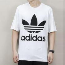 adidas阿迪達斯三葉草運動服男裝短袖T恤大LOGO款運動服CW1212