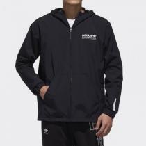 Adidas阿迪達斯三葉草男裝連帽休閑運動服夾克外套DX4236