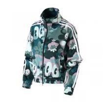 Adidas阿迪達斯三葉草女裝春季新款印花運動服夾克外套DV2668