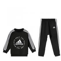adidas童男婴童长袖套装2019新款春季长袖长裤休闲运动服DV1285