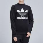 Adidas阿迪達斯三葉草女裝春季新款運動服圓領衛衣DV2612
